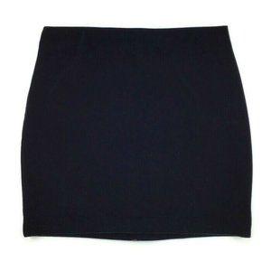 Express Stretchy Velour Velvet Mini Black Skirt